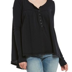 NWT Free People Kai Babydoll Thermal Henly